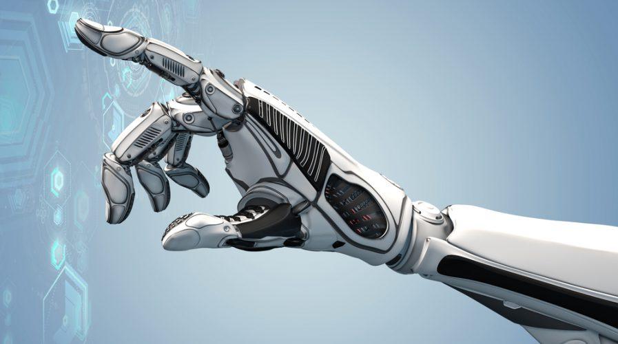A robotic mechanical arm looks as like a human hand