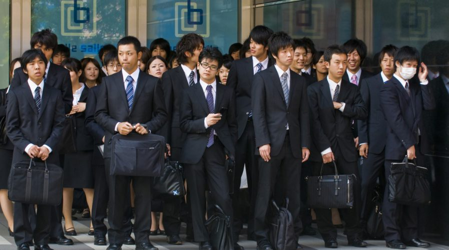 japan young men salarymen