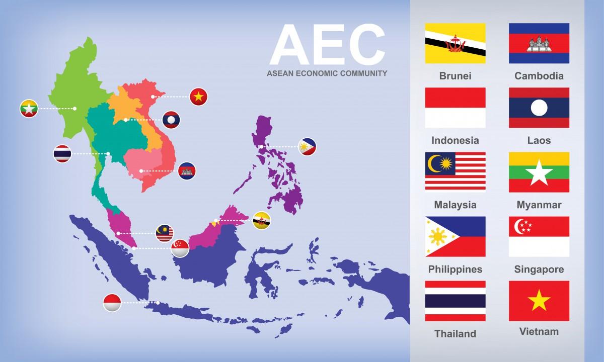 ASEAN, map