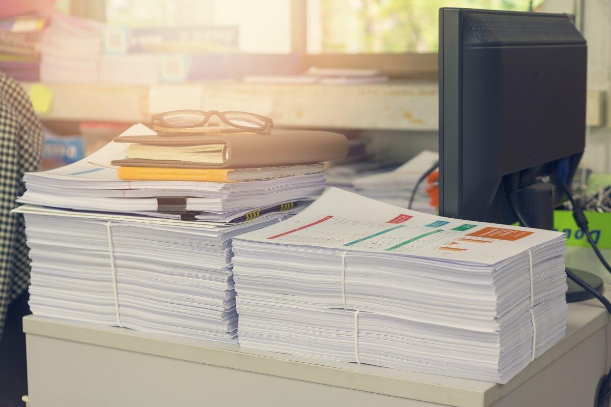 data information paper piles