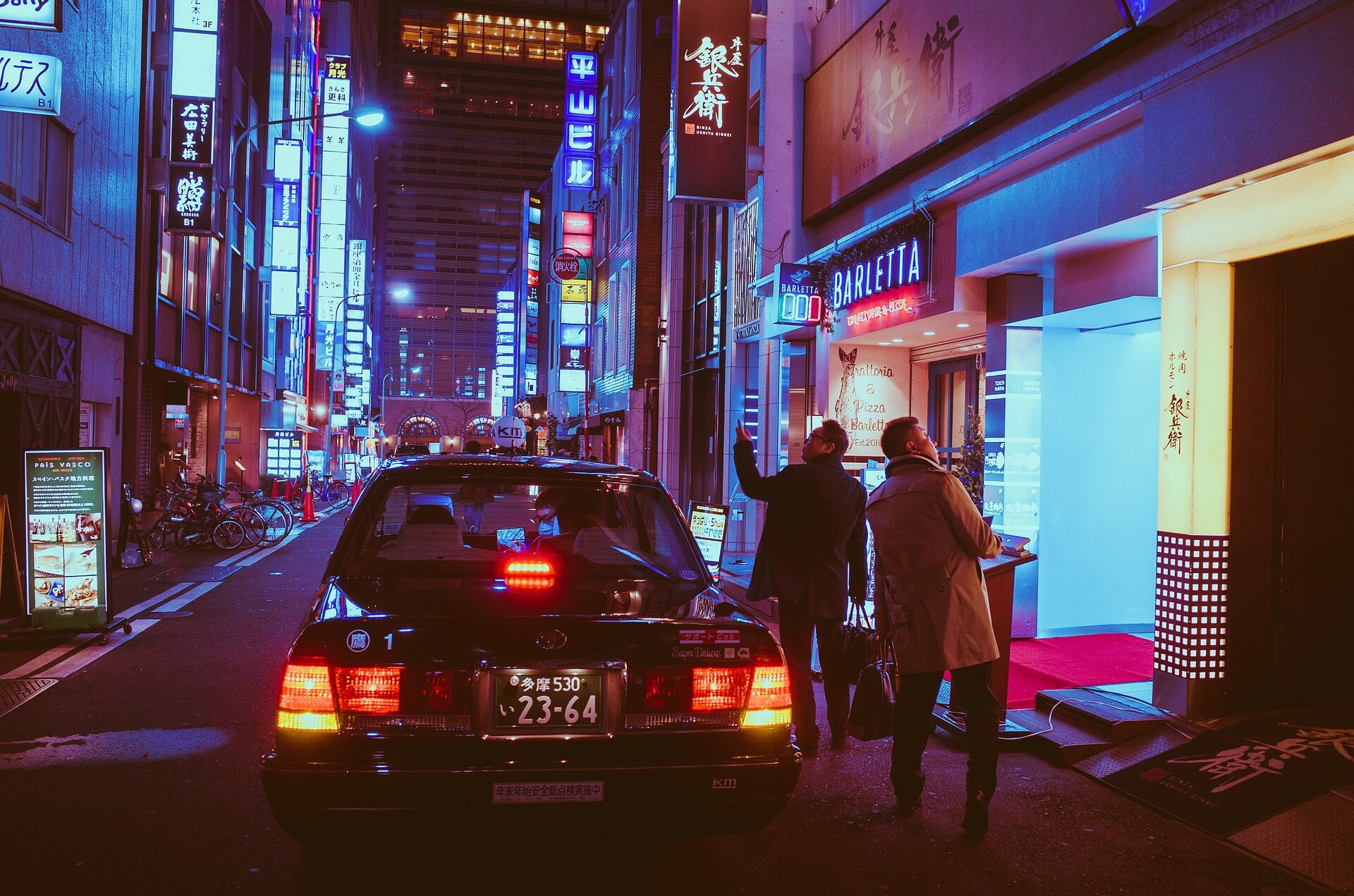 japan taxi cab ride